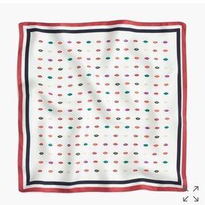J. Crew Smooch Print Italian Silk Scarf